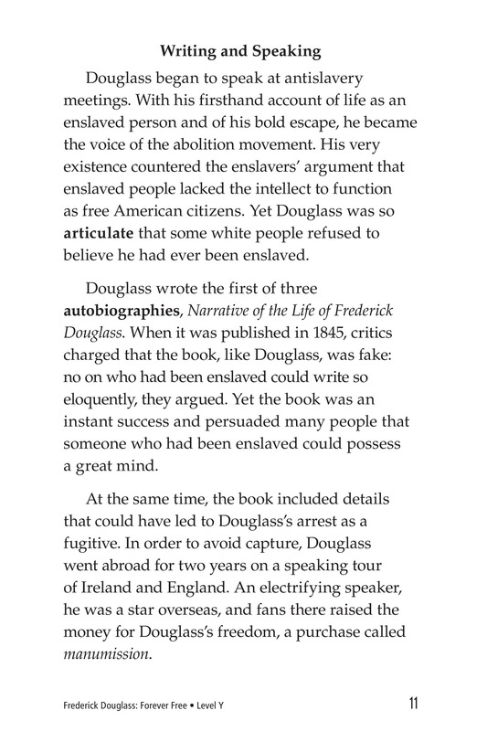 Book Preview For Frederick Douglass: Forever Free Page 11