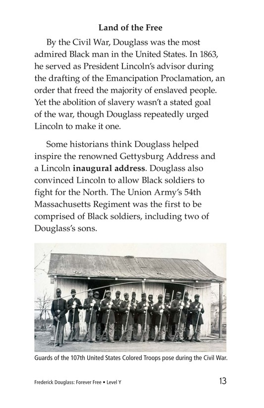 Book Preview For Frederick Douglass: Forever Free Page 13
