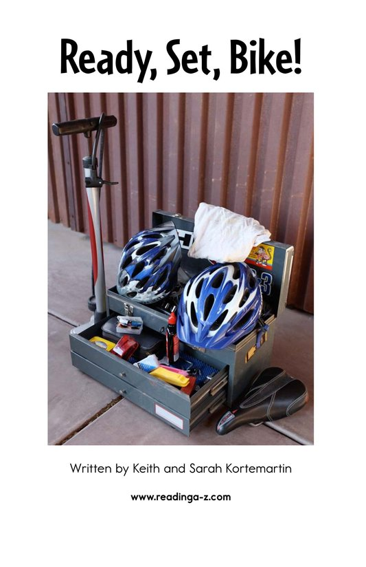 Book Preview For Ready, Set, Bike! Page 2