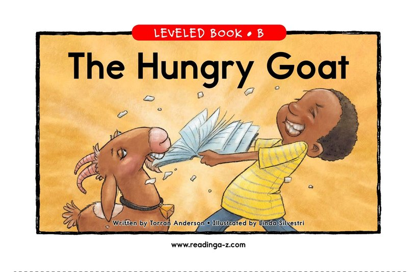 Book Preview For The Hungry Goat Page 1