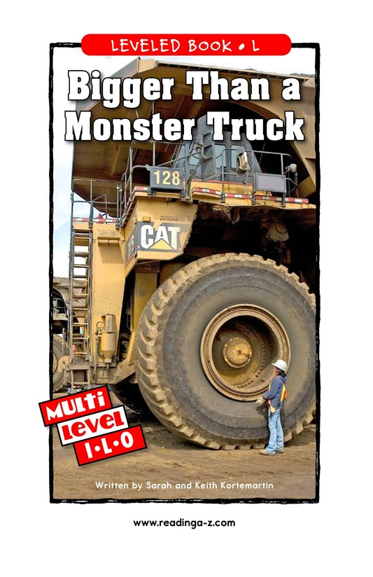 Book Preview For Bigger Than a Monster Truck Page 1