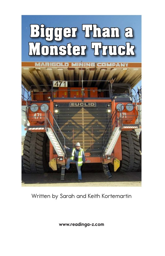 Book Preview For Bigger Than a Monster Truck Page 2