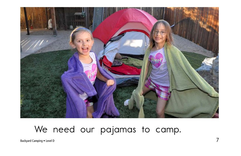 Book Preview For Backyard Camping Page 7
