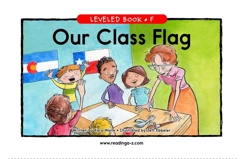 Book Preview For Our Class Flag Page 1