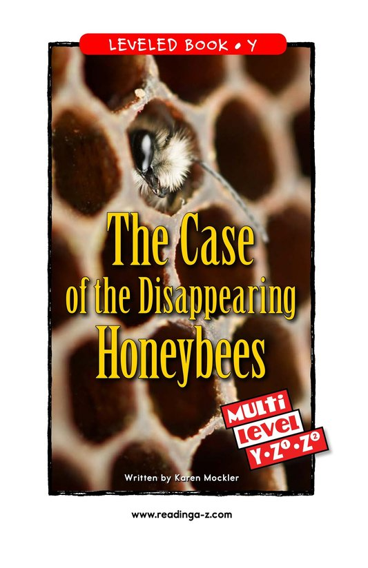 Book Preview For The Case of the Disappearing Honeybees Page 0