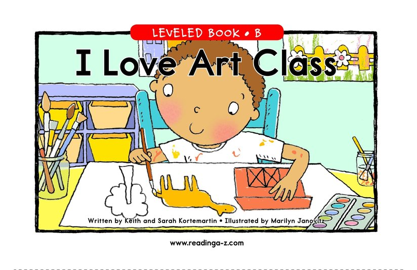 Book Preview For I Love Art Class Page 1