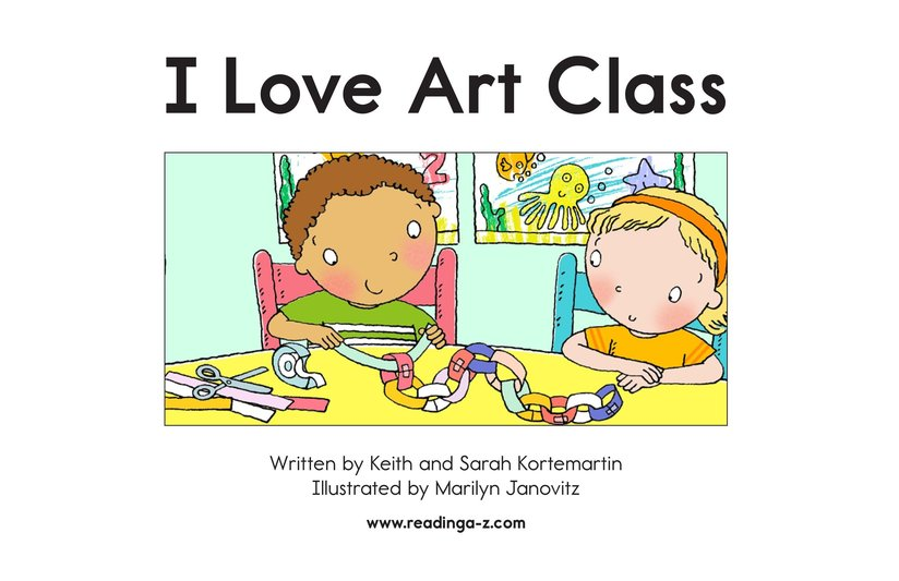 Book Preview For I Love Art Class Page 2