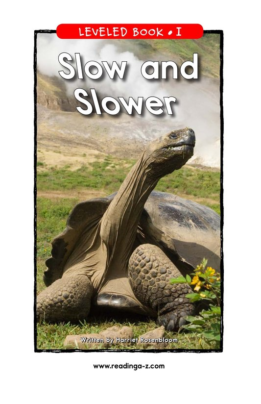 Book Preview For Slow and Slower Page 1