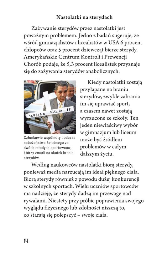 Book Preview For Spoiled Sports: The Dangers of Steroids Page 14