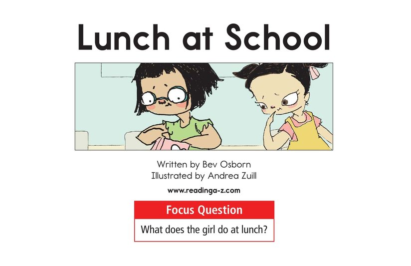 Book Preview For Lunch at School Page 1