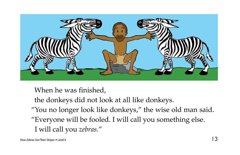 Book Preview For How Zebras Got Their Stripes Page 13