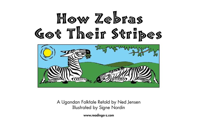 Book Preview For How Zebras Got Their Stripes Page 2