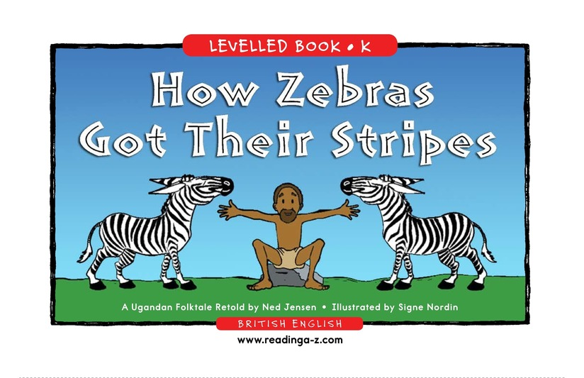 Book Preview For How Zebras Got Their Stripes Page 1
