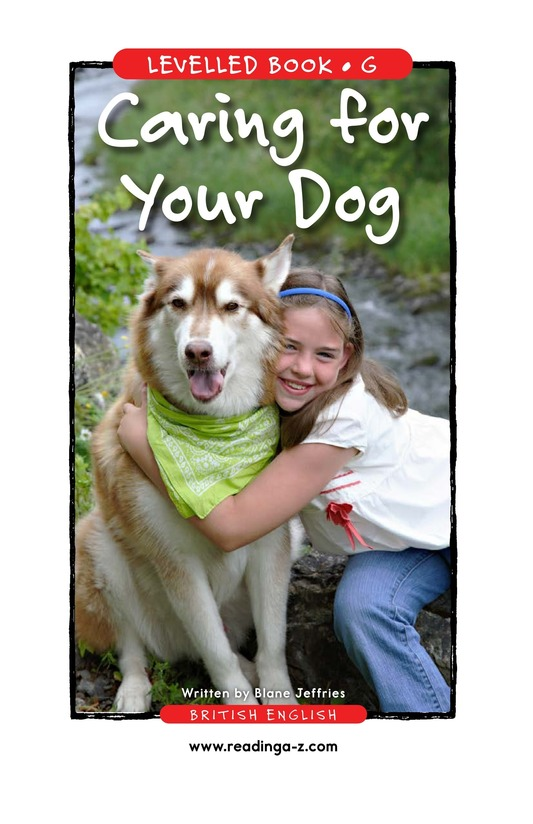 Book Preview For Caring for Your Dog Page 1