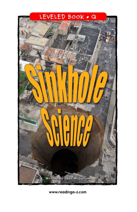 Book Preview For Sinkhole Science Page 1