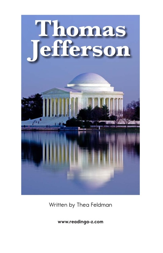 Book Preview For Thomas Jefferson Page 1