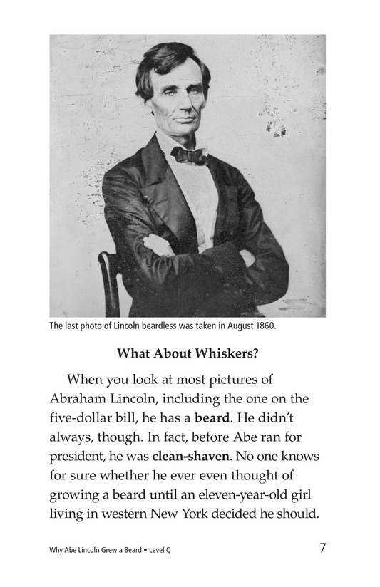 Book Preview For Why Abe Lincoln Grew a Beard Page 7