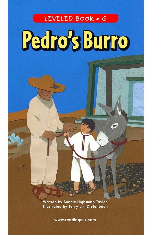 Book Preview For Pedro's Burro Page 1