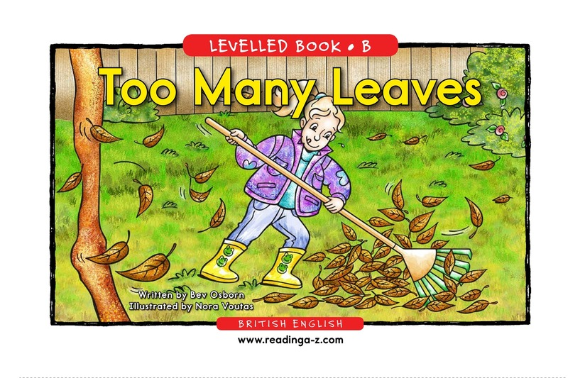 Book Preview For Too Many Leaves Page 1