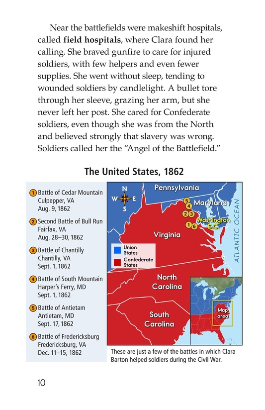 Book Preview For Clara Barton: The Angel of the Battlefield Page 10