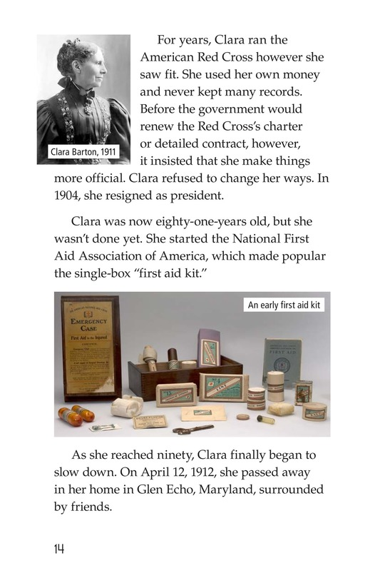 Book Preview For Clara Barton: The Angel of the Battlefield Page 14