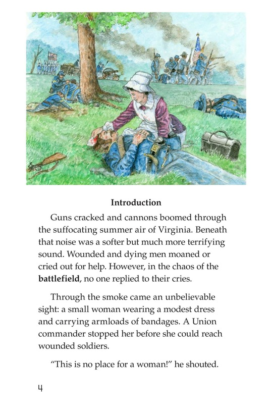 Book Preview For Clara Barton: The Angel of the Battlefield Page 4