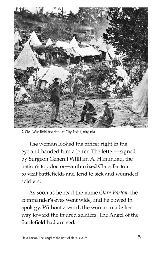 Book Preview For Clara Barton: The Angel of the Battlefield Page 5