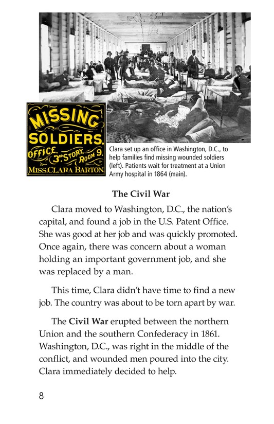 Book Preview For Clara Barton: The Angel of the Battlefield Page 8