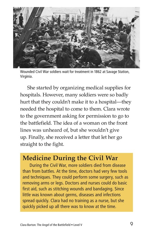 Book Preview For Clara Barton: The Angel of the Battlefield Page 9