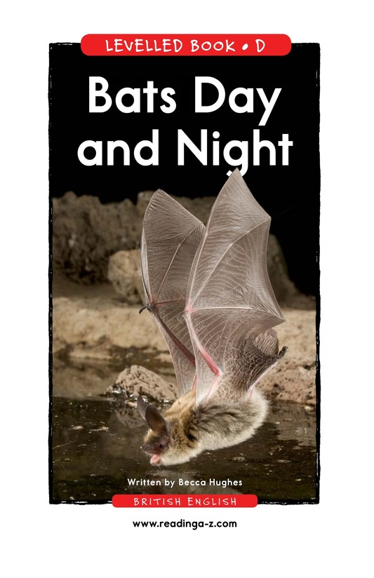 Book Preview For Bats Day and Night Page 1