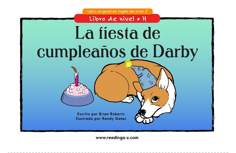 Book Preview For Darby's Birthday Party Page 1