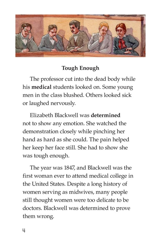 Book Preview For Elizabeth Blackwell: America's First Woman Doctor Page 4