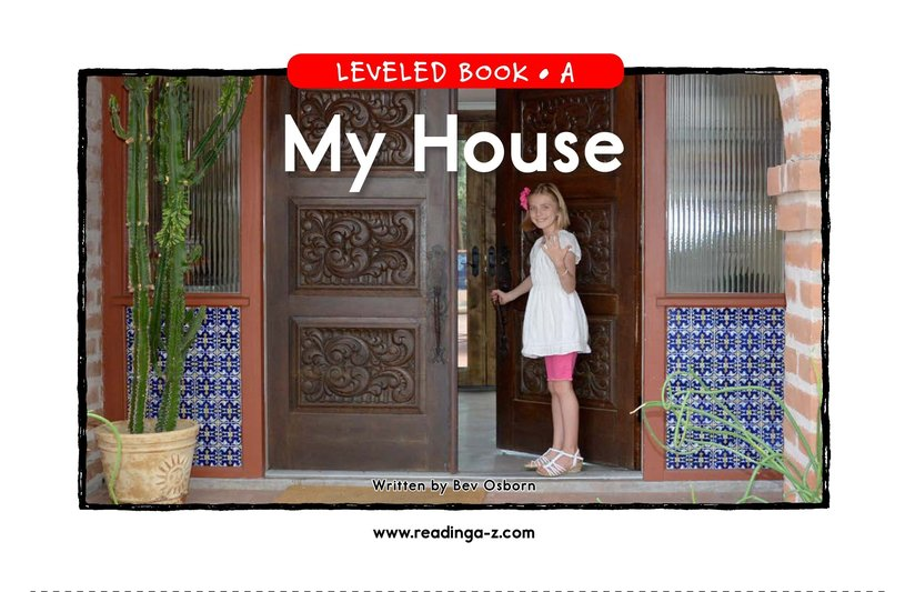 Book Preview For My House Page 1