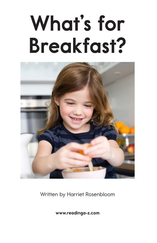 Book Preview For What's for Breakfast? Page 2