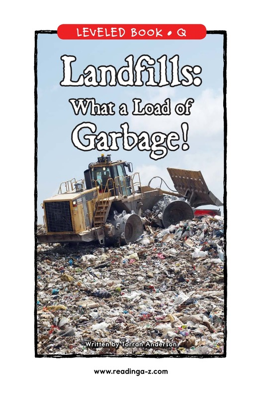 Book Preview For Landfills: What a Load of Garbage! Page 1