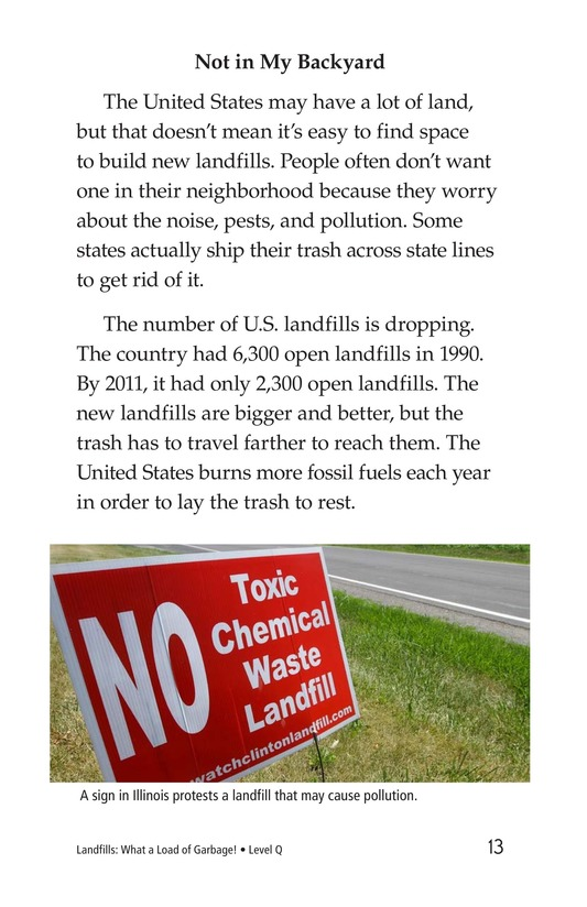 Book Preview For Landfills: What a Load of Garbage! Page 13