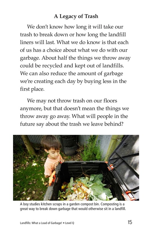 Book Preview For Landfills: What a Load of Garbage! Page 15