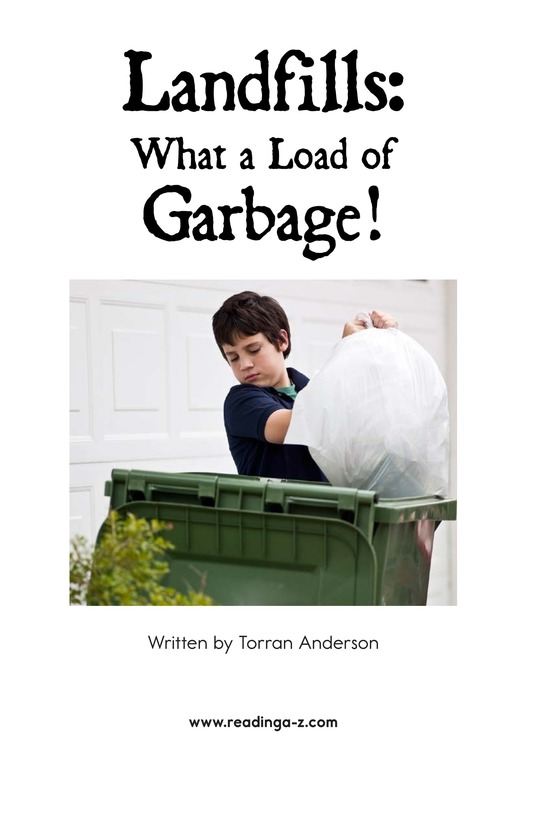 Book Preview For Landfills: What a Load of Garbage! Page 2