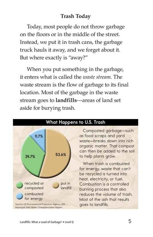 Book Preview For Landfills: What a Load of Garbage! Page 5