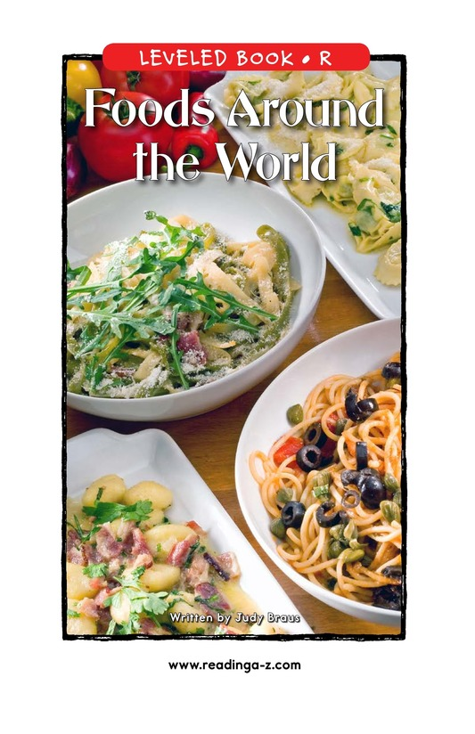Book Preview For Foods Around the World Page 1
