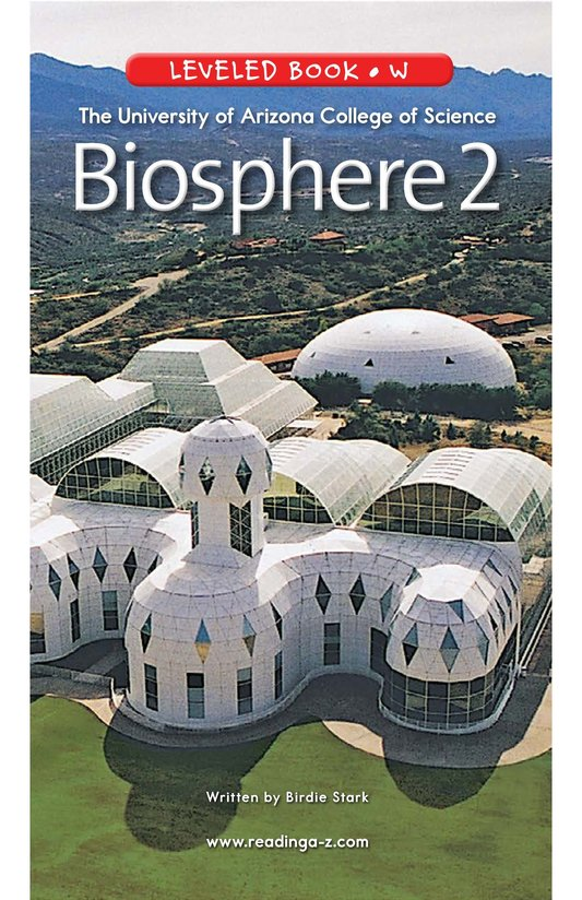 Book Preview For The University of Arizona College of Science Biosphere 2 Page 1