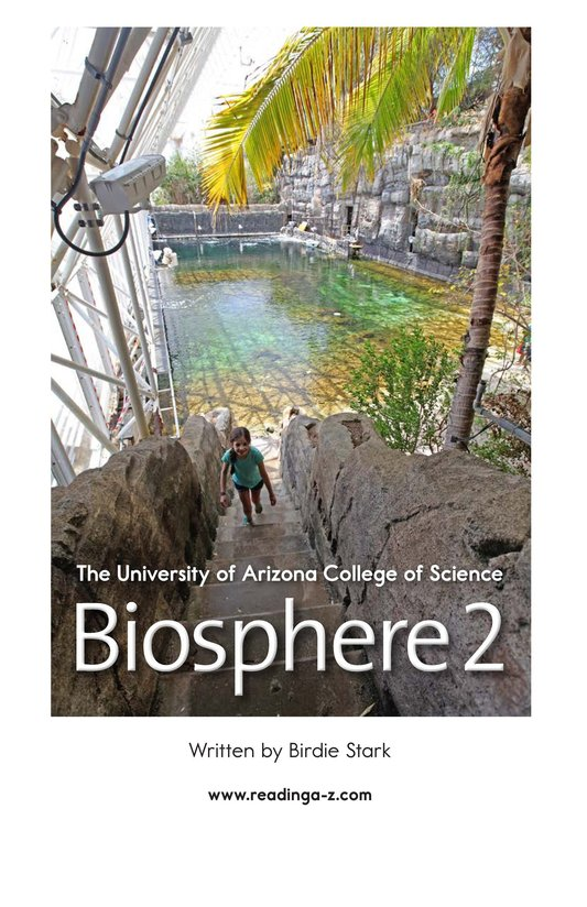 Book Preview For The University of Arizona College of Science Biosphere 2 Page 2