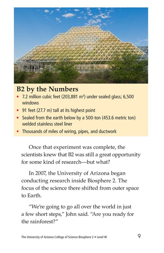 Book Preview For The University of Arizona College of Science Biosphere 2 Page 9