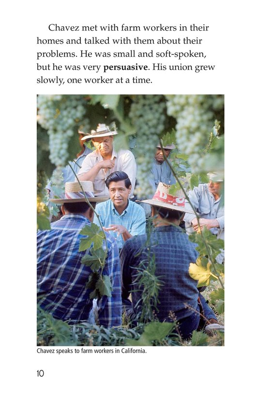 Book Preview For Cesar Chavez: Migrant Hero Page 10