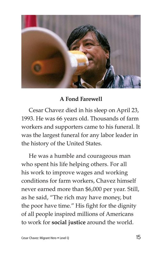 Book Preview For Cesar Chavez: Migrant Hero Page 15