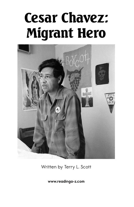 Book Preview For Cesar Chavez: Migrant Hero Page 2