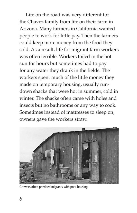 Book Preview For Cesar Chavez: Migrant Hero Page 6