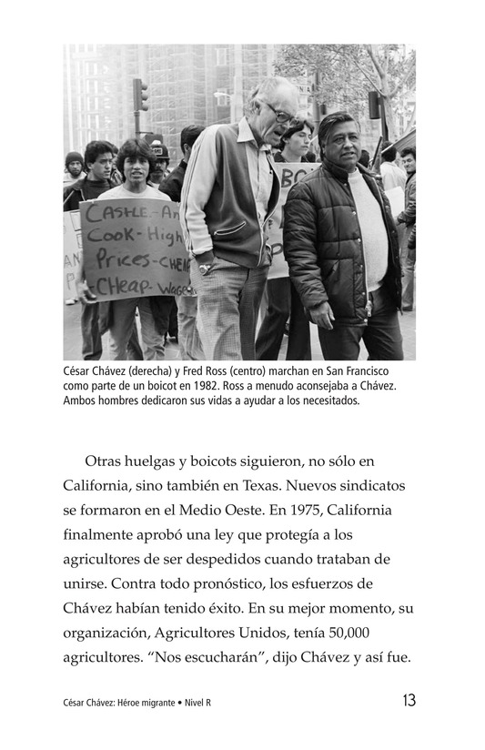 Book Preview For Cesar Chavez: Migrant Hero Page 13