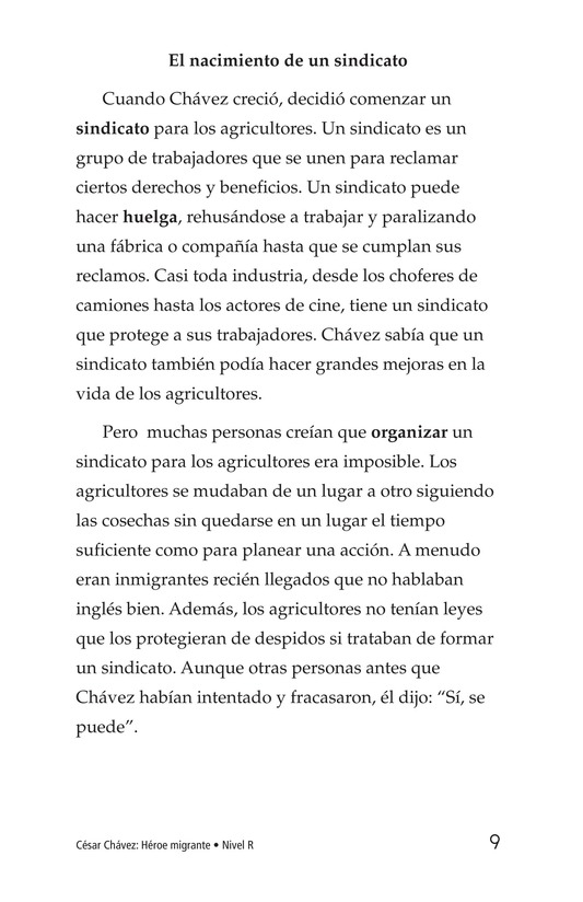 Book Preview For Cesar Chavez: Migrant Hero Page 9