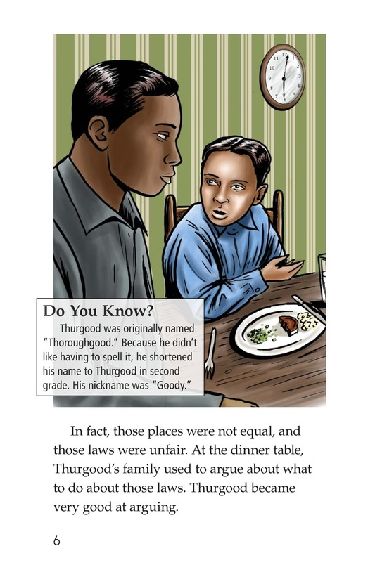 Book Preview For Good for Thurgood! Page 6